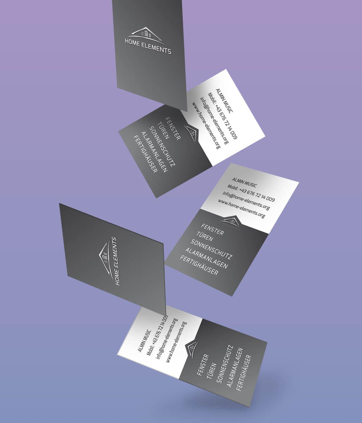 Home Elements Visitenkarten