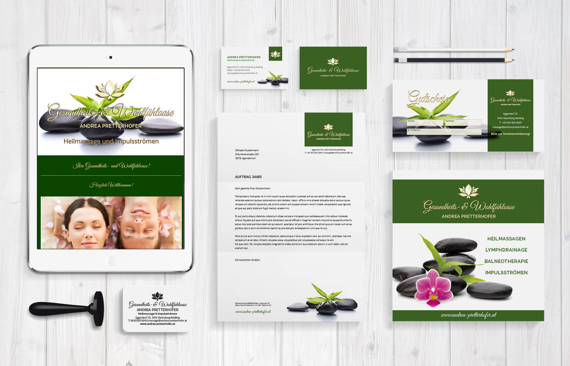 Corporate Design von Andrea Pretterhofer Heilmasseurin