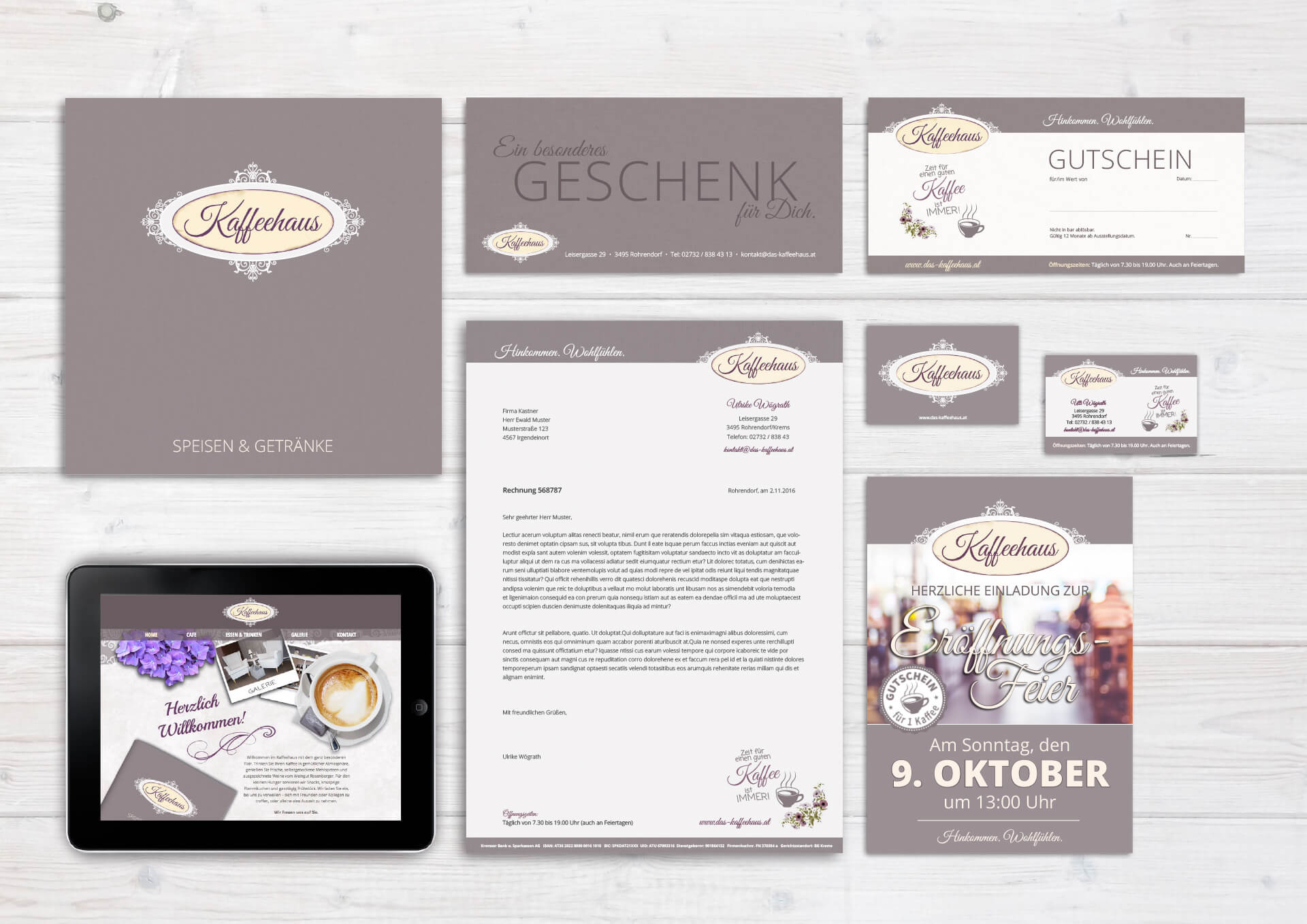 Kaffeehaus Corporate Design