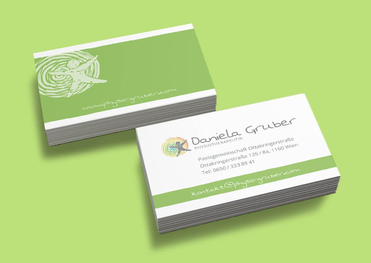 Physiotherapie Daniela Gruber Visitenkarten