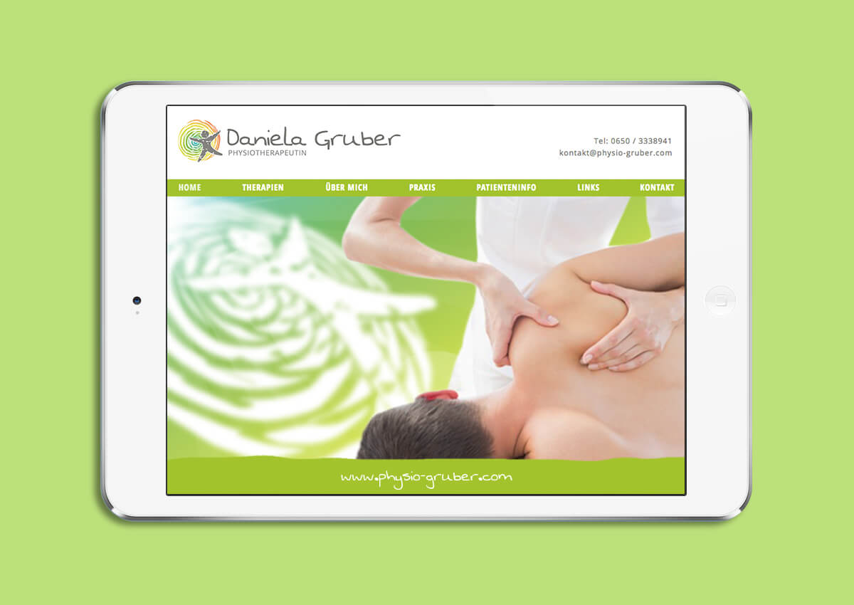 Physiotherapie Daniela Gruber Website