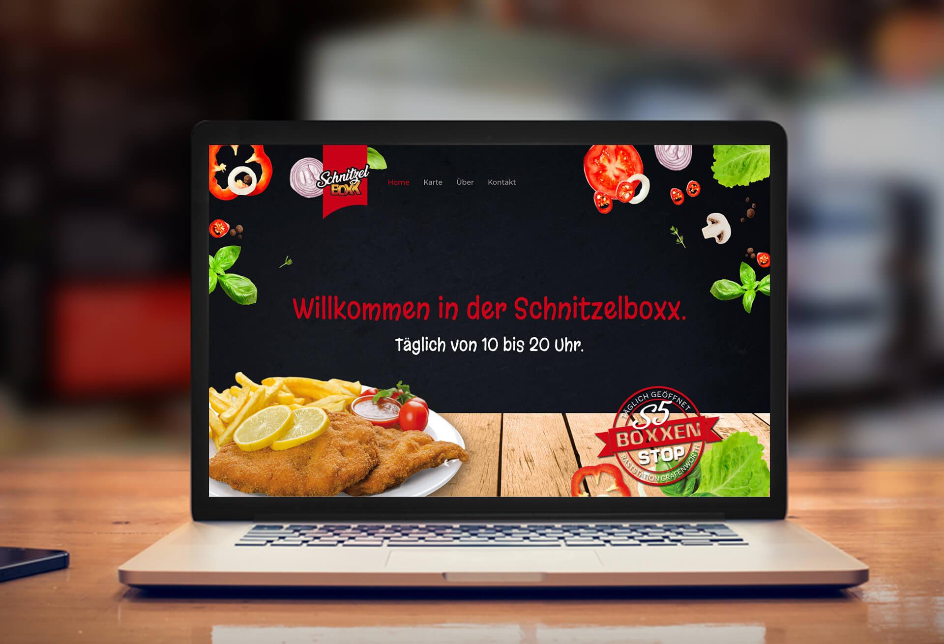 Schnitzelboxx Website Startsite
