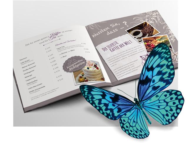 Foto einer Broschüren-Doppelseite